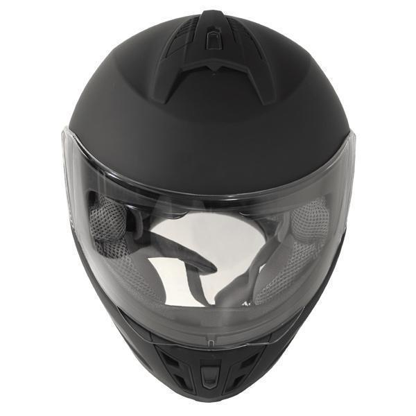 Hawk 'FX' ST11121 7FB Flat Black Modular Motorcycle Helmet with X2 Bluetooth System Bundle - Hawk Helmet Bundles