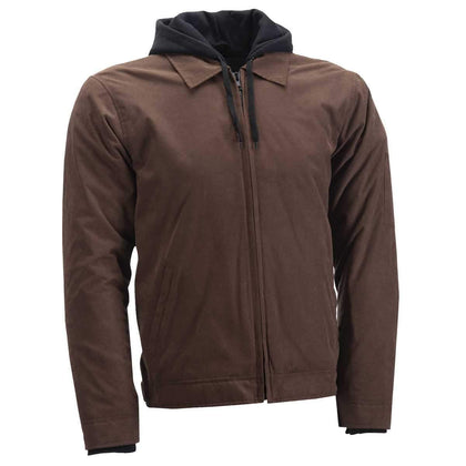 Highway 21 Gearhead Men's Brown Textile Jacket with Armor - N/A