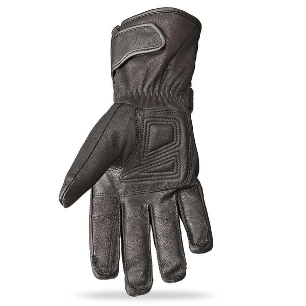 Highway 21 Granite Men's Black Leather Gloves - N/A