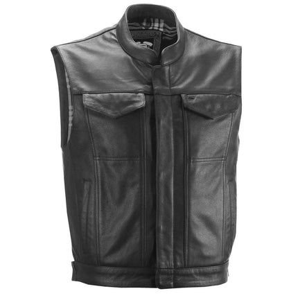 Highway 21 Magnum Men's Black Leather Vest