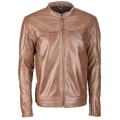 Highway 21 Primer Men's Brown Leather Jacket
