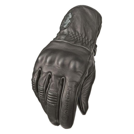 Highway 21 Hook Men's Black Leather Gloves