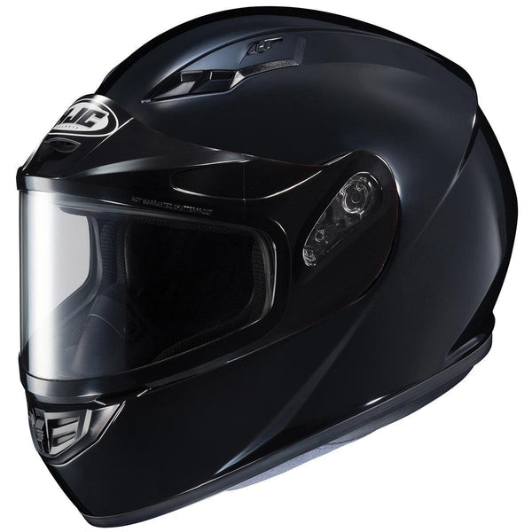 HJC CS-R3 SN Black Snowmobile Helmet with Dual Lens shield - N/A