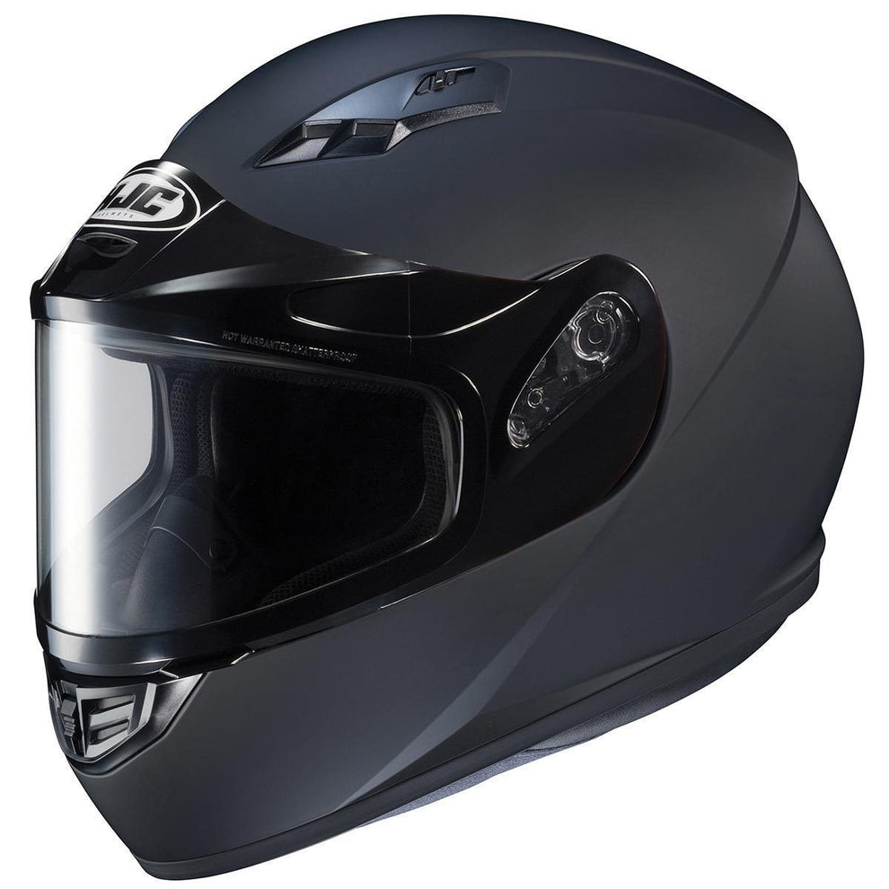 HJC CS-R3 SN Matte Black Snowmobile Helmet with Dual Lens shield