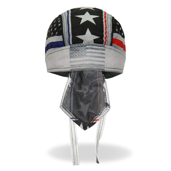 Hot Leathers HWH1097 Thin Line Stars and Stripes Flag Head Wrap - Hot Leathers headwraps