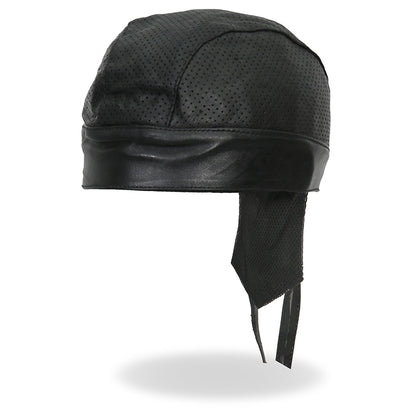 Hot Leathers HWL1010 Black Perforated Leather Head Wrap