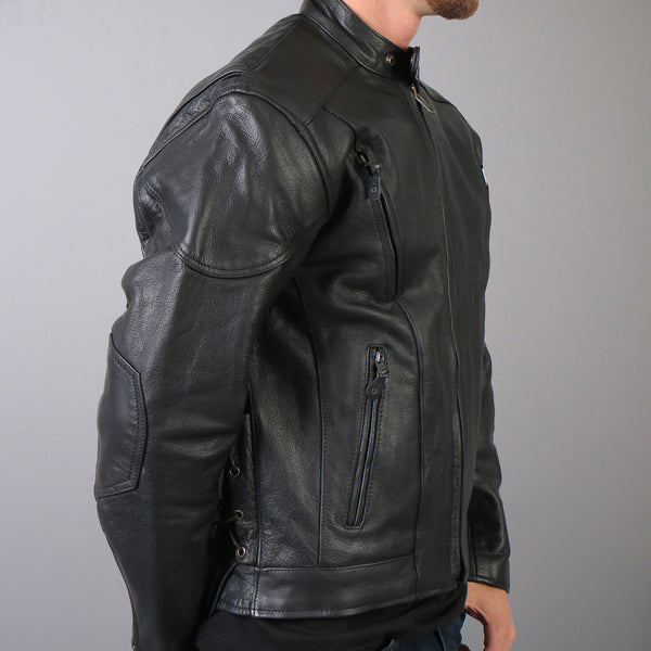 Hot Leathers JKM1010 Men's Vented Leather Jacket - Hot Leathers Mens Jackets
