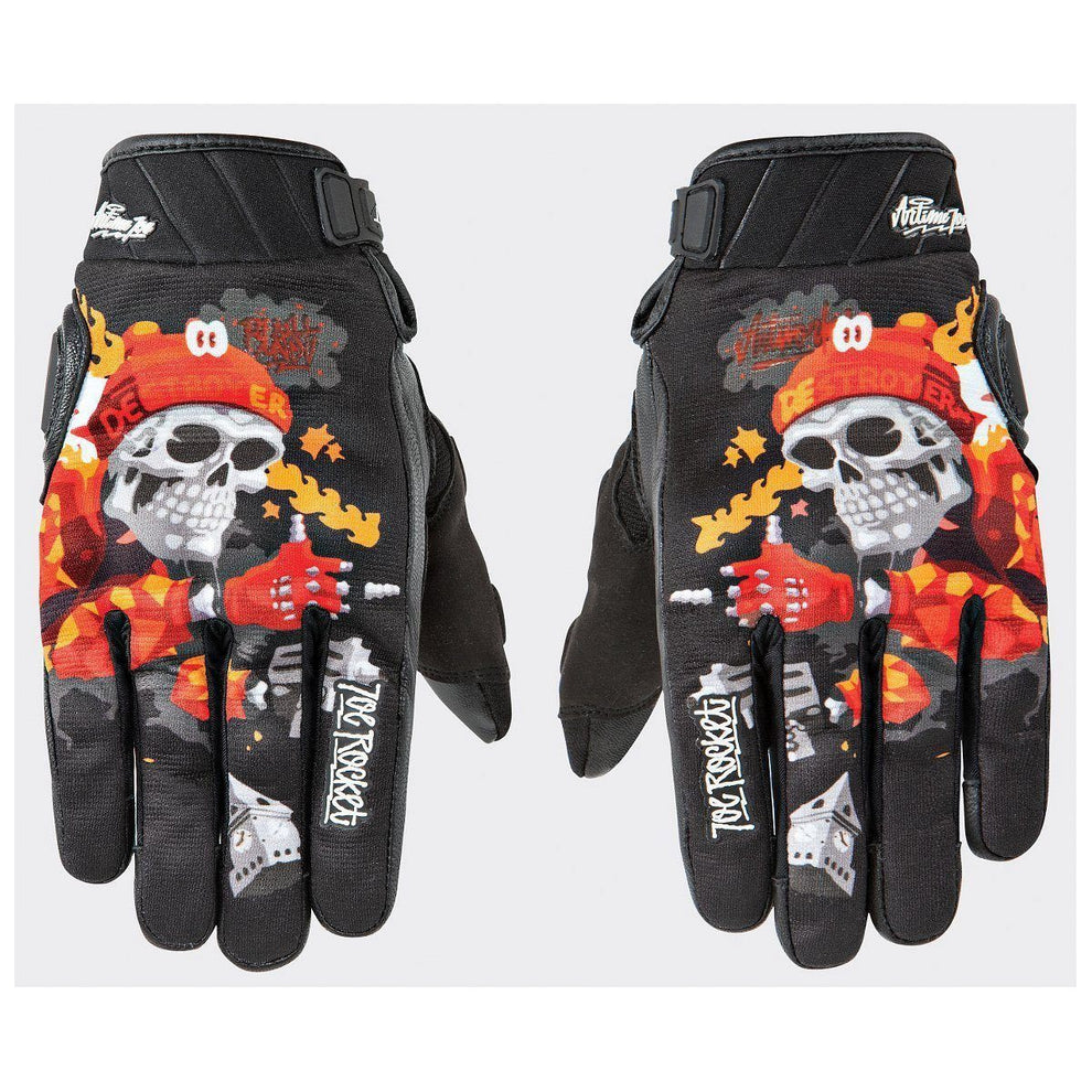 Joe Rocket Artime Joe Destroy Men's Red Leather Gloves