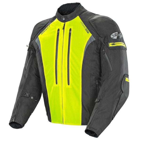 Joe Rocket Atomic Ion Men's Black And Hi-Viz Yellow Textile Jacket