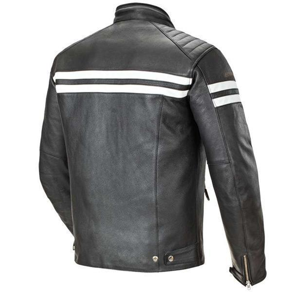 Joe Rocket 'Classic 92' Mens Black/White Leather Motorcycle Jacket
