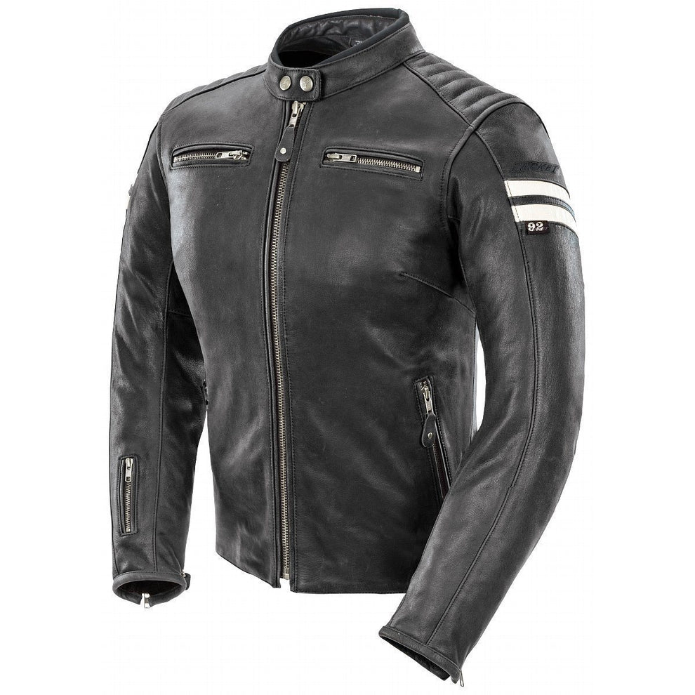 Joe Rocket Classic 92 Womens Black/White Leather Jacket