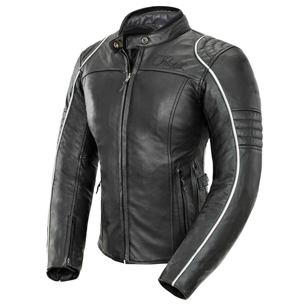 Joe Rocket Lira Women's Black and White Leather Jacket - N/A