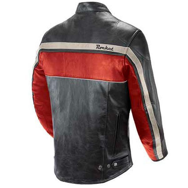 Joe Rocket 'Old School' Mens Red/Black/Ivory Leather Motorcycle Jacket