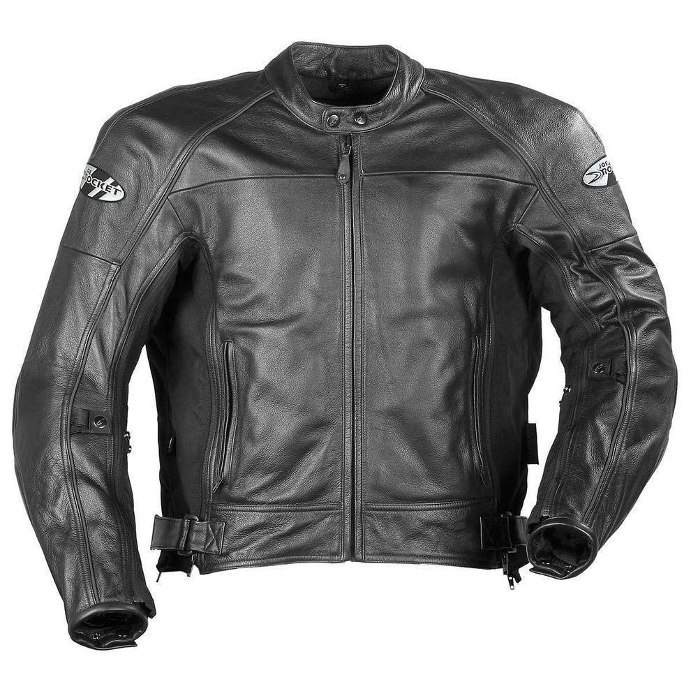 Joe Rocket 'Sonic 2.0' Mens Black Leather Motorcycle Jacket