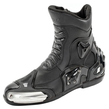 Joe Rocket Superstreet Men's Black Leather Boots - N/A
