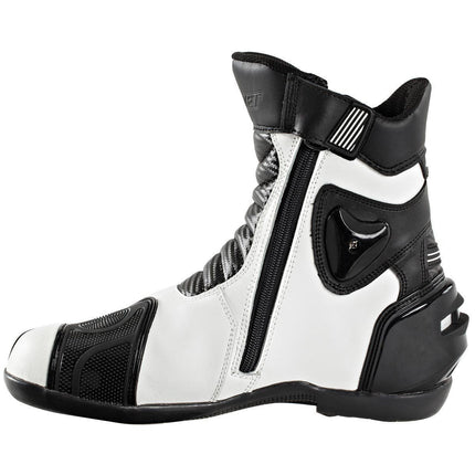 Joe Rocket Superstreet Men's White Leather Boots