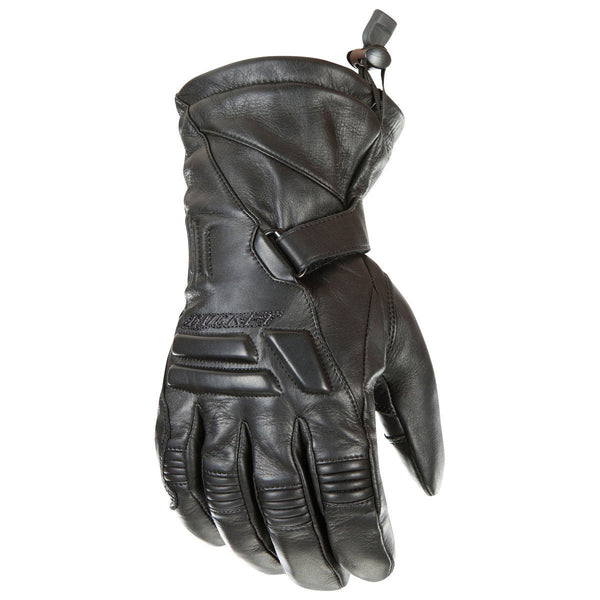 Joe Rocket 'Windchill' Mens Black Leather Motorcycle Gloves - N/A