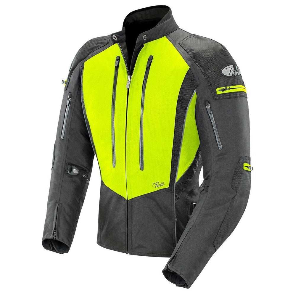 Joe Rocket Atomic 5.0 Women's Hi-Viz Yellow/Black Textile Jacket