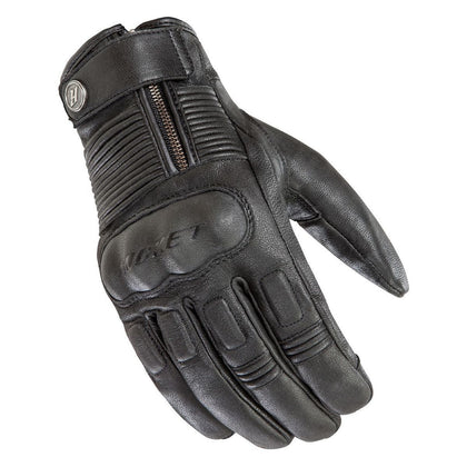 Joe Rocket Black BRITON Leather Gloves - Joe Rocket Gloves