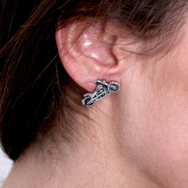 Hot Leathers JWE2101 Motorcycle Post Earrings - Hot Leathers Jewelry