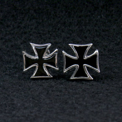 Hot Leathers JWE2103 Iron Cross Post Earrings - Hot Leathers Jewelry