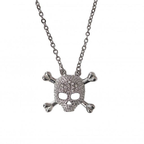 Hot Leathers JWN1002 Skull and Cross Bones Necklace - Hot Leathers Jewelry