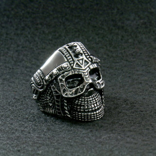Hot Leathers JWR2105 Men's Cyborg Skull Stainless Steel Ring - Hot Leathers Jewelry
