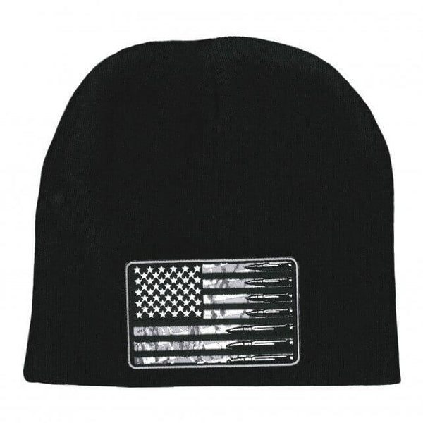 Hot Leathers KHB5010 USA Flag Bullets Knit Hat - Hot Leathers Jewelry
