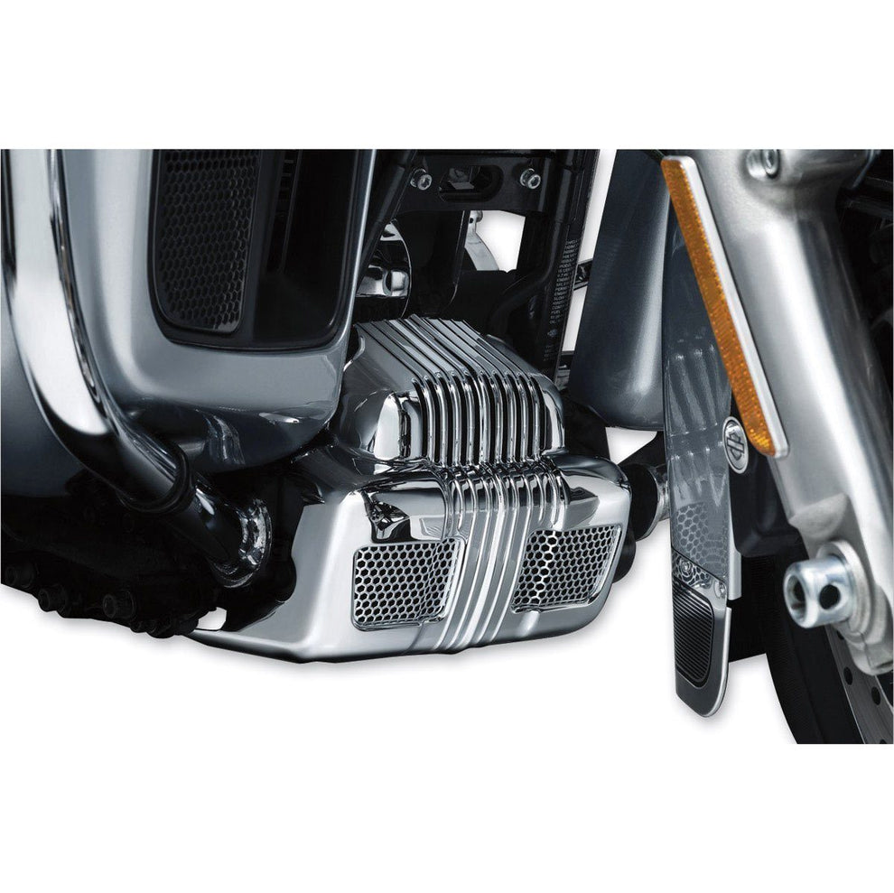 Kuryakyn Coolant Pump Cover for Harley Davidson 2014-15 Twin Cooled Electra Glide Ultra Limited, Road Glide Ultra, CVO Touring, Tri Glide models