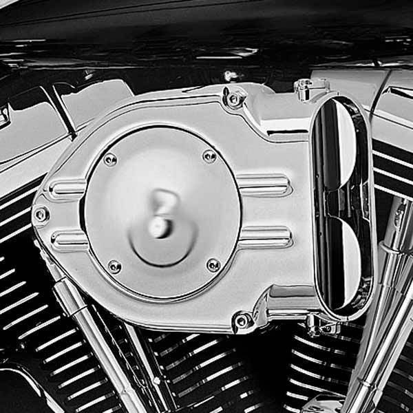 Kuryakyn Standard Hypercharger with Chrome Trap Door for Harley Davidson 1999-2014 Twin Cam with CV Carb, 2006-14 Twin Cam with Delphi EFI