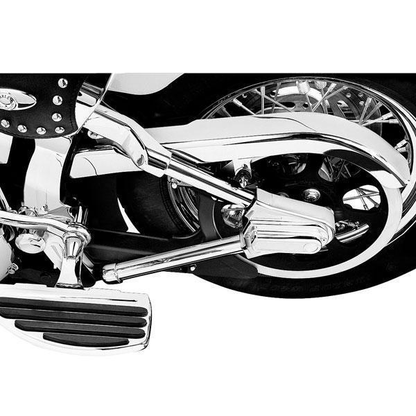 Kuryakyn Swingarm Tube Covers for Harley Davidson 1986-99 Softail Models - N/A