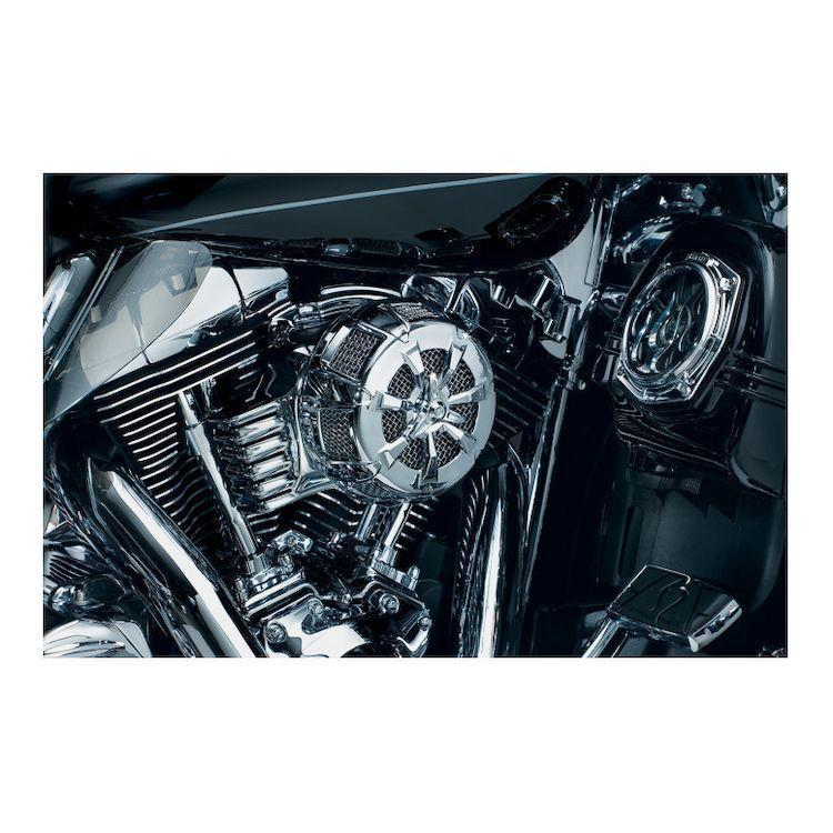 Kuryakyn Alley Cat Air Cleaner Cover for Harley Davidson 1999-2014 Touring, 1999-2014 Softail, 1999-2007 Dyna models
