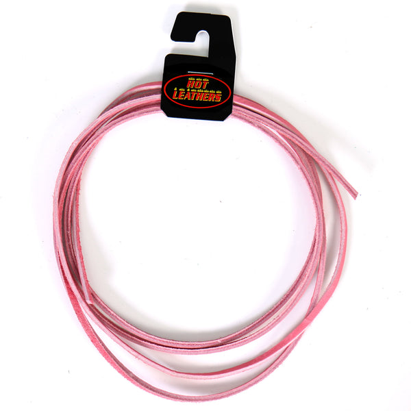 Hot Leathers LHH110 72 Inch Pink Leather Lace - Hot Leather Vest Laces