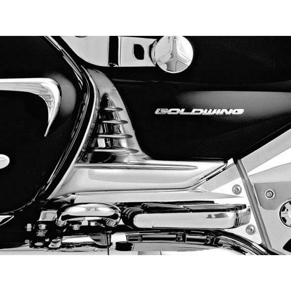 Kuryakyn Louvered Chrome Battery Box Covers for Honda 2001-10 GL1800 models - N/A