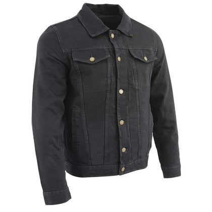 Milwaukee Performance MDM1015 Men's Classic Black Denim Jean Pocket Jacket with Gun Pockets - Milwaukee Performance Mens Denim Jackets