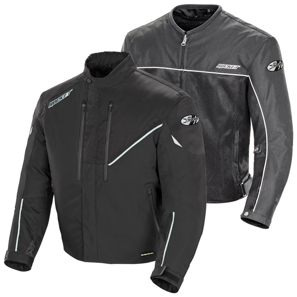 Joe Rocket Men's Alter Ego 4.1 Black Waterproof Extreme Condition Textile Armor Jacket - Joe Rocket Mens Textile Jackets