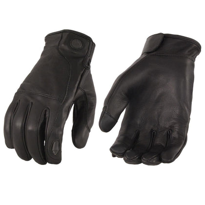 Milwaukee Leather MG7599 Men's Leather Gloves with LED Finger Lights - N/A