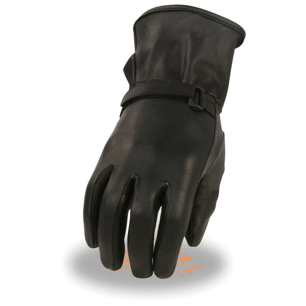 Milwaukee Leather MG7755 Ladies i-Touch Thermal Lined Black Leather Gloves with Studs Medium