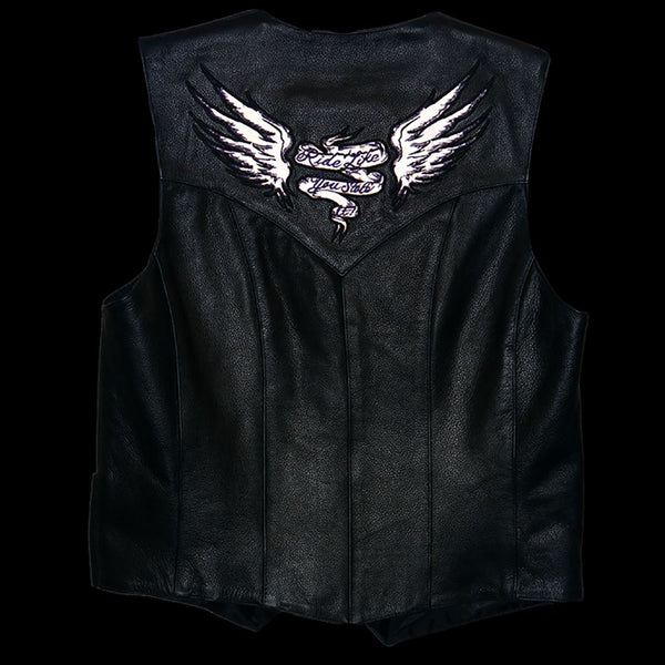 Milwaukee Leather ML1294 Ladies Black 'Ride Like You Stole It' Embroidered Vest