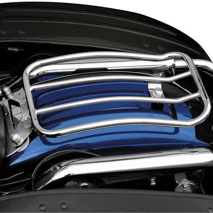 Motherwell Chrome Solo Luggage Racks for 1997-2010 Harley Davidson Road Kings FLH/FLT Models