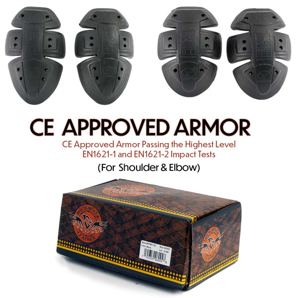 Milwaukee Leather MP7901CE CE Approved Replacement Motorcycle Advanced Armor