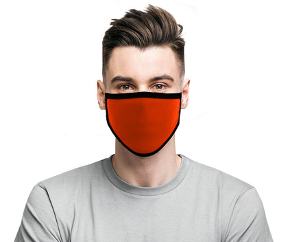 Milwaukee MP7924FM 'Black and Orange' 100 % Cotton Protective Face Mask with Optional Filter Pocket - Milwaukee Face Masks