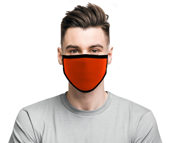 Milwaukee MP7924FM 'Black and Orange' 100 % Cotton Protective Face Mask with Optional Filter Pocket