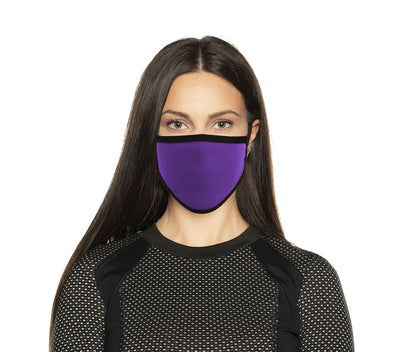 Milwaukee MP7924FM Ladies 'Black and Purple' 100 % Cotton Protective Face Mask with Optional Filter Pocket
