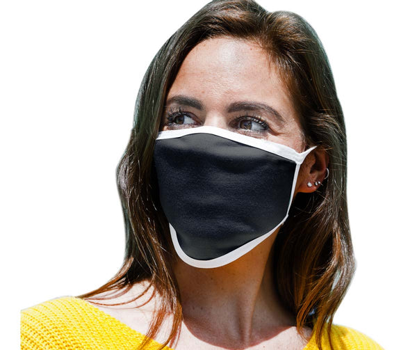 Milwaukee (Multi-Pack) MP7924FM 'Black and White' 100 % Cotton Protective Face Mask with Optional Filter Pocket - Milwaukee Face Masks