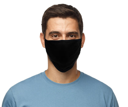 Milwaukee (Multi-Pack) MP7924FM 'Solid Black' 100 % Cotton Protective Face Mask with Optional Filter Pocket - Milwaukee Face Masks