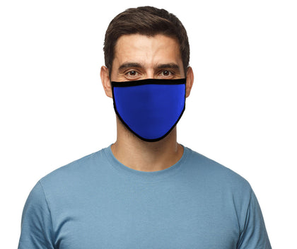 Milwaukee MP7924FM 'Royal Blue' 100 % Cotton Protective Face Mask with Optional Filter Pocket - Milwaukee Face Masks