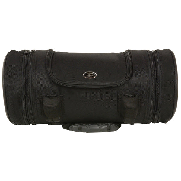 Milwaukee Leather MP8135 Large Textile Triple Zipper Pocketed Roll Top Bag - Milwaukee Leather Accessories