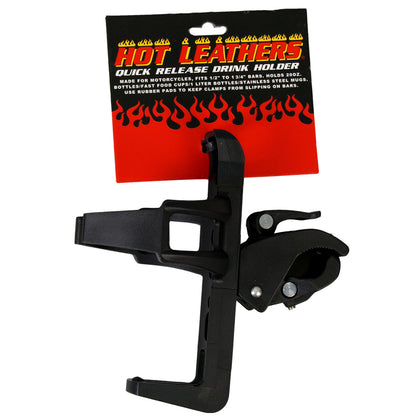 Hot Leathers MPA4012 Black Quick Release Drink - Cup Holder - Hot Leather Cup Holders