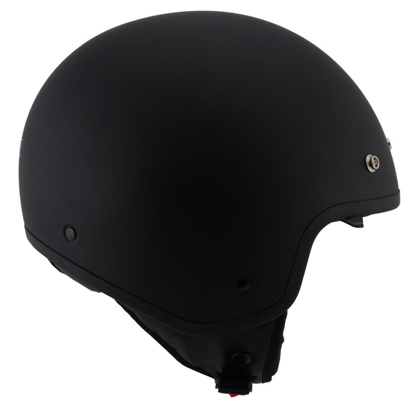 Milwaukee Performance Helmets MPH9700DOT 'Accelerator' 3 /4 Open Face Matte Black Helmet - Milwaukee Performance 3/4 Helmets